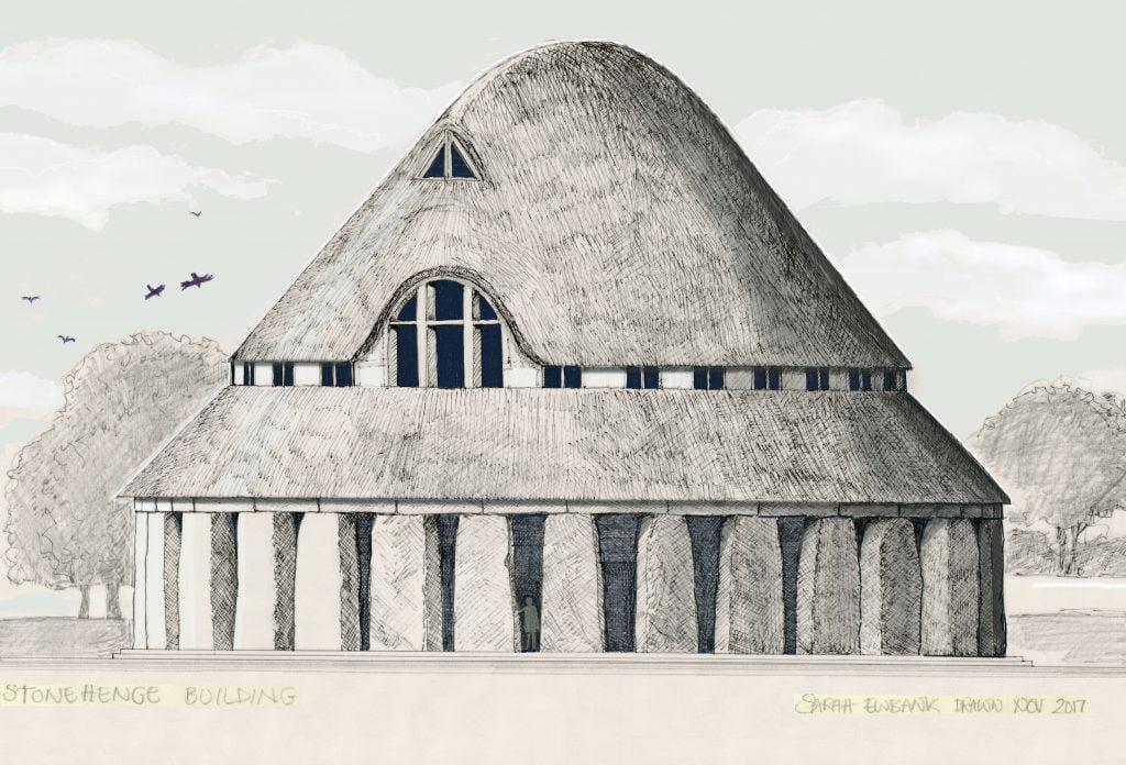 Stonehenge with roof by Sarah Ewbank